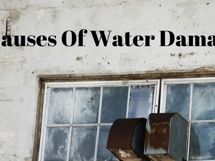 3 Causes Of Water Damage